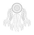 Hand drawn zentangle Dream catcher with mehendi vector image