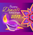 happy diwali festival of lights 2017 poster vector image