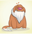sitting funny old english sheepdog vector image