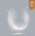 Glowing light burst with transparent Transparent vector image