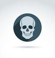 a human skull in a circle Dead head abst vector image