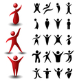 Abstract people symbol set vector image