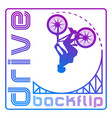 cyclist on a springboard vector image
