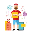 Pizza Delivery Flat style colorful Cartoon vector image