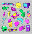 vaporwave fashion funky elements with heart