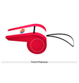 A Red and White Whistle of French Polynesia vector image