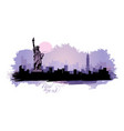 abstract landscape of the city with sights of the vector image vector image
