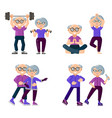 active older people are engaged in sports set of vector image vector image