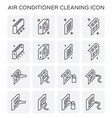 air conditioner cleaning vector image vector image