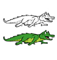 alligator coloring book vector image vector image