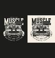 american custom car vintage label vector image vector image