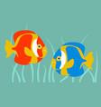aquarium fish flat style vector image