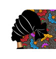 banner portrait african woman traditional turban vector image vector image