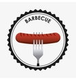 barbecue seal stamp vector image vector image