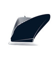 big nose of a cruise liner simple logo ship vector image