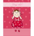 birthday girl card vector image vector image