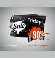 black friday seasonal sale vector image vector image