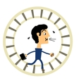 Businessman in a hamster wheel vector image