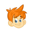 cartoon small blond boy head vector image vector image