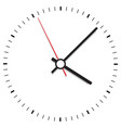 clock icon office clock on white background vector image vector image