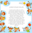 colorful template brochure in baby style vector image vector image