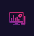 computer analysis data analytics icon vector image