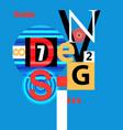 design a font composition vector image
