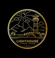 design lighthouse golden color vector image vector image