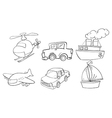Doodle design of land air and water vector image vector image