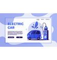 electric car charging concept cartoon vector image vector image