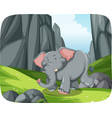 elephant running in nature scene vector image vector image