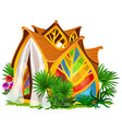 exquisite design of the house in the form of vector image vector image