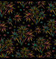 firework seamless pattern isolated vector image vector image