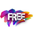 free paper poster with colorful brush strokes vector image