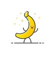 funny banana character vector image
