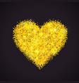 golden glitter heart vector image vector image