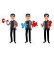 handsome business man cartoon character vector image vector image