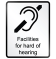Hard of hearing Information Sign vector image vector image