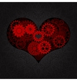 heart as a mechanism made cogs and gears vector image