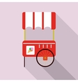 ice cream cart isolated in pink vector image