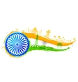 India background with monument vector image vector image