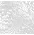 Light Gray White Distort Halftone Background vector image