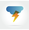 lightning icon with cloud concept for design vector image vector image