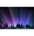 Night scene with trees and stars vector image