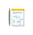 Notebook With Pen Scribbles vector image
