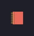 notepad computer symbol vector image vector image