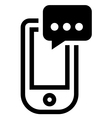 Phone with message icon vector image vector image