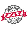 quick win stamp sign seal vector image vector image