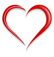 red love heart vector image