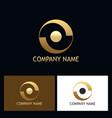 round gold balance logo vector image vector image